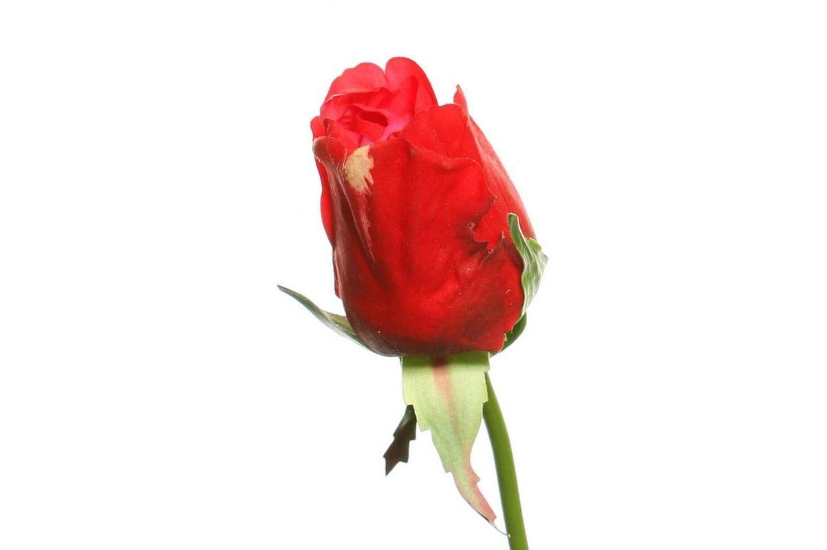 Роза Джой в бутоне искусственная красная 68 см (Real Touch) - Фото 2