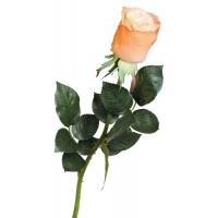 Роза Джессика полуоткрытая искусственная оранжевая 72 см (Real Touch)