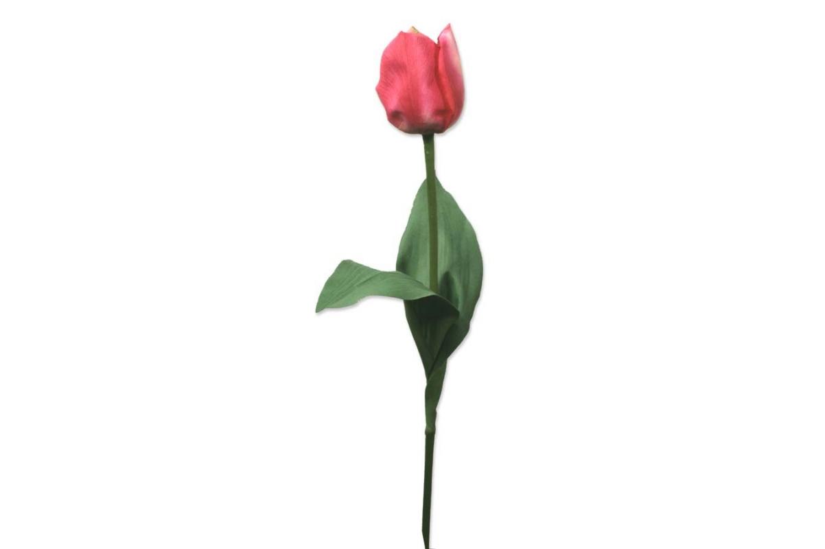 Тюльпан искусственный темно-розовый 60 см (Real Touch)