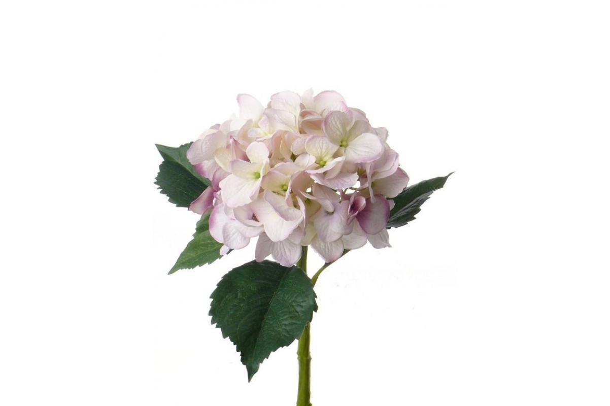 Гортензия искусственная бело-розовая 48 см