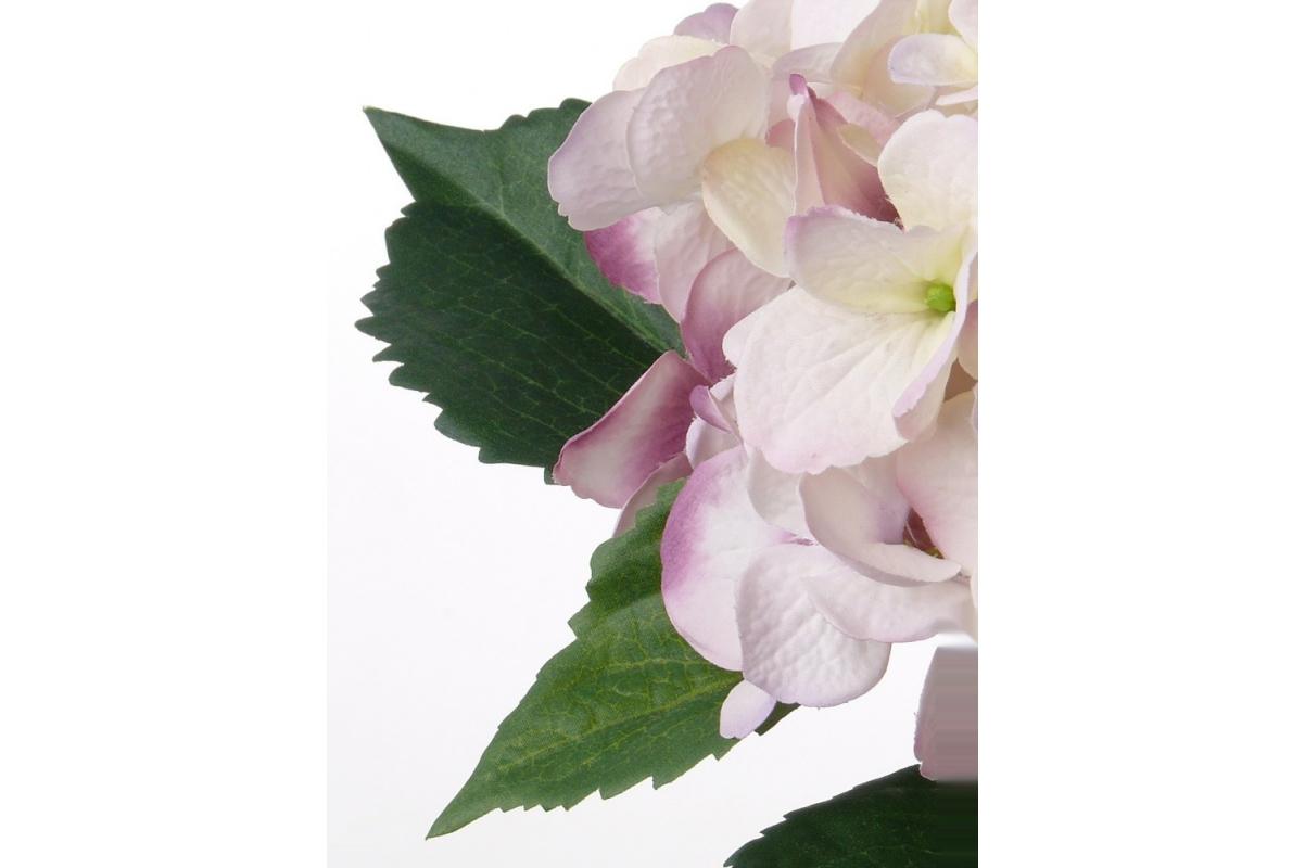 Гортензия искусственная бело-розовая 48 см - Фото 2