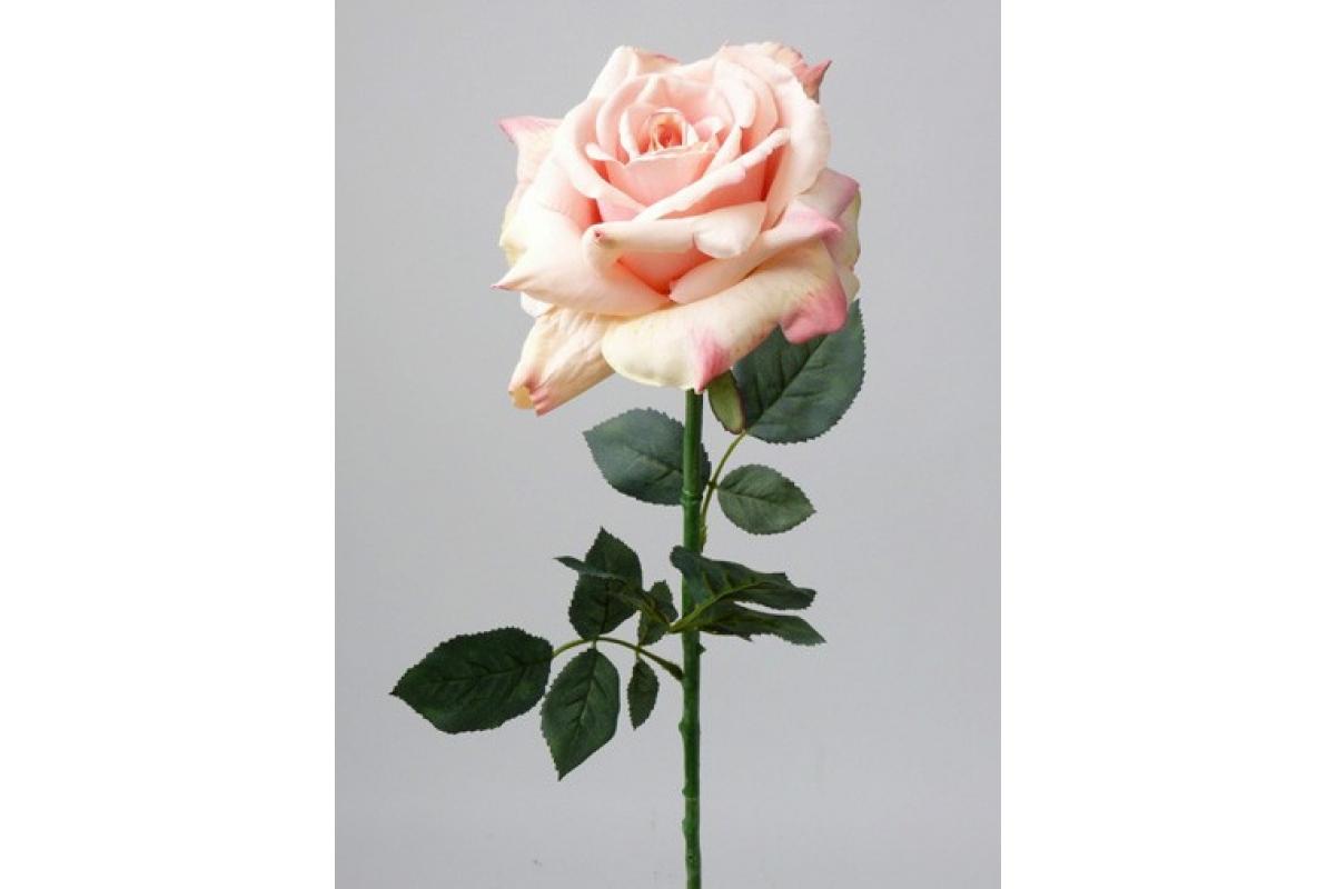 Роза Королевская искусственная розовая 67 см