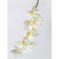 """Орхидея Цимбидиум """"Jumbo"""" искусственная кремовая 91 см"""