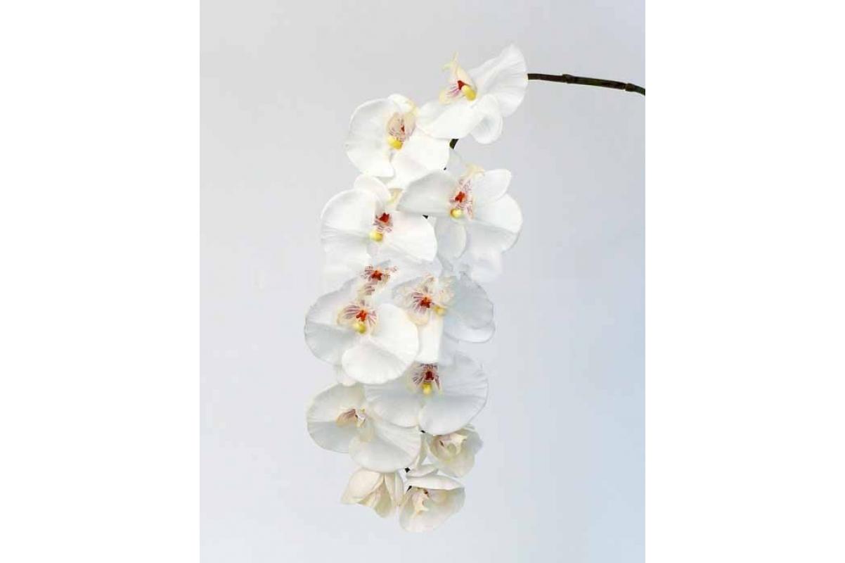 """Орхидея Фаленопсис """"Jumbo"""" искусственная белая 102 см (Real Touch)"""