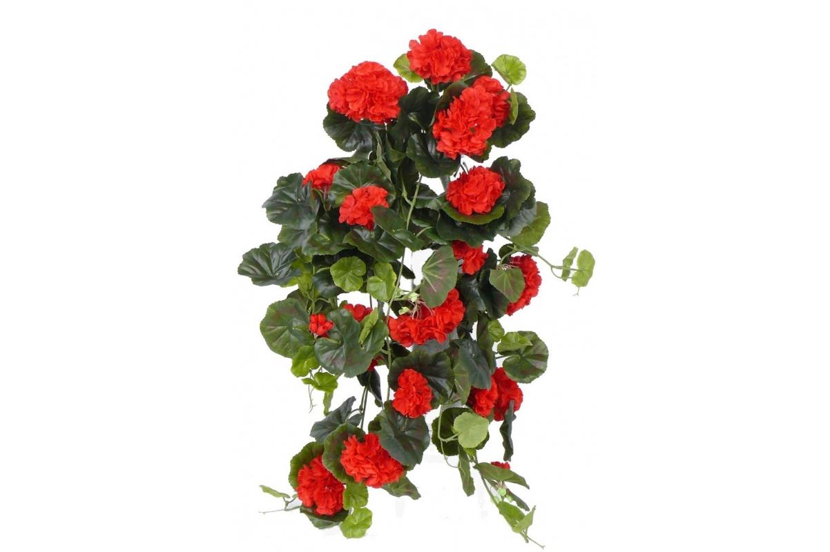 Герань Махровая Ампельная искусственная красная 70 см