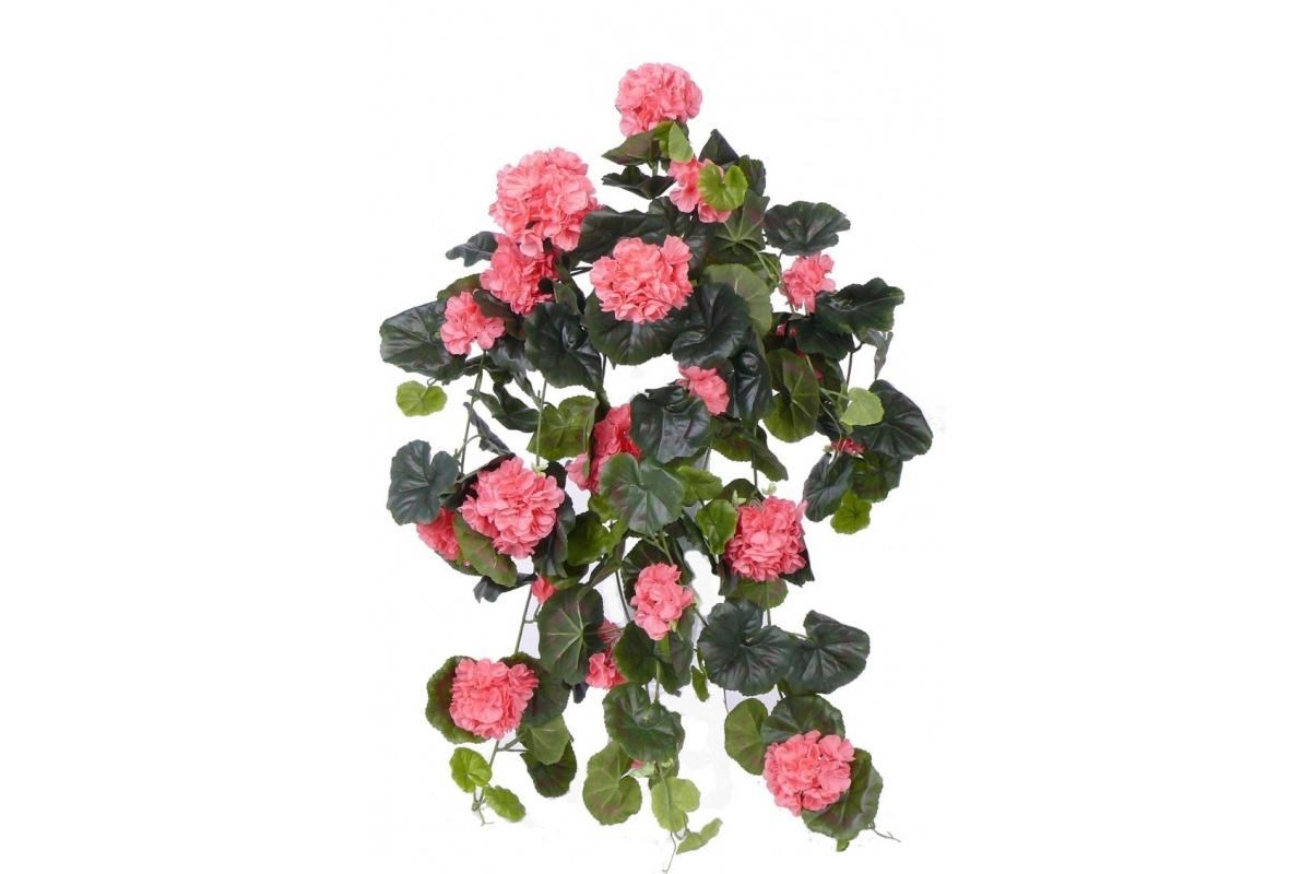 Герань Махровая Ампельная искусственная розовая 70 см