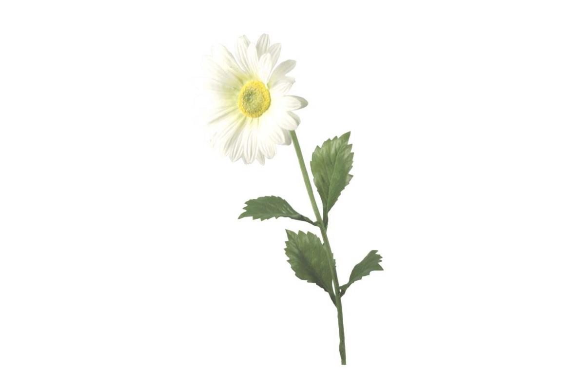 Ромашка садовая искусственная белая 70 см