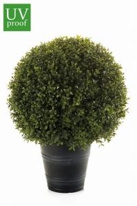 Самшит шар в кашпо искусственный зеленый 53 см