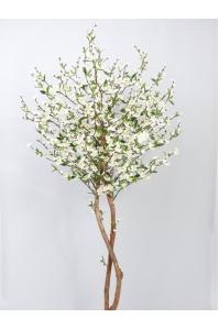 Сакура искусственная цветущая кремовая 210 см