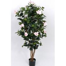 Гибискус искусственный Китайский цветущий розовый 180 см