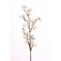 Ветка Сакуры цветущая белая искусственная 104 см