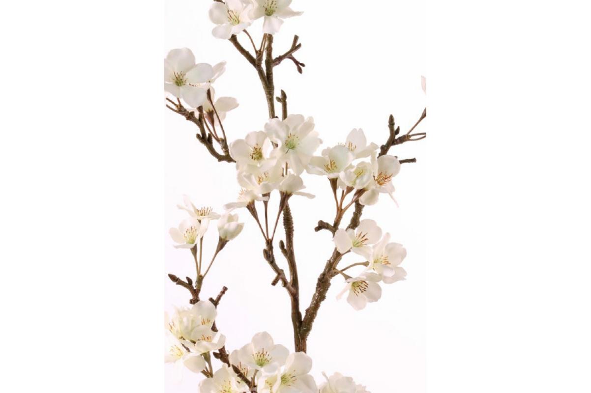 Ветка Сакуры цветущая белая искусственная 104 см - Фото 2
