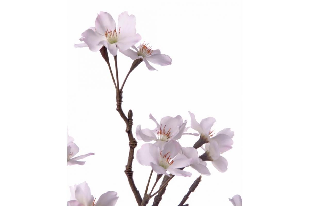 Ветка Сакуры цветущая розово-белая искусственная 104 см - Фото 2