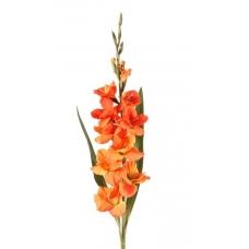 Гладиолус искусственный оранжевый 102 см