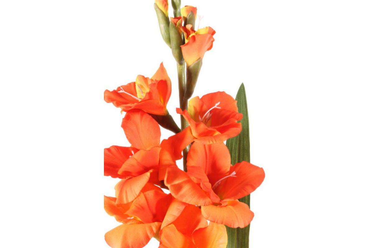 Гладиолус искусственный оранжевый 102 см - Фото 2