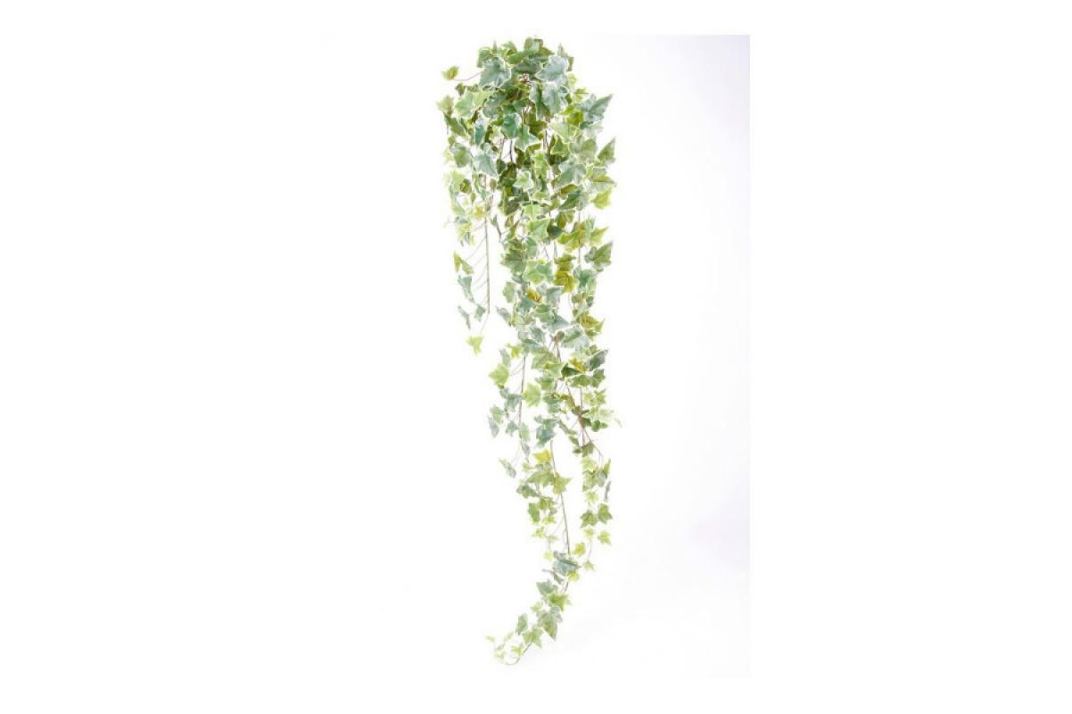 Плющ (хедера) искусственный бело-зеленый 120 см