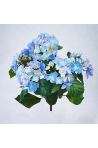 Искусственная Гортензия куст голубой без кашпо