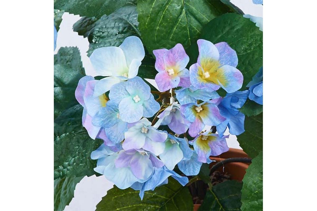 Гортензия куст голубой искусственный 40 см - Фото 2
