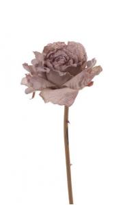 Роза распустившаяся винтажная искусственная шампань 55 см