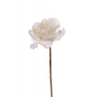 Роза распустившаяся винтажная искусственная кремовая 55 см