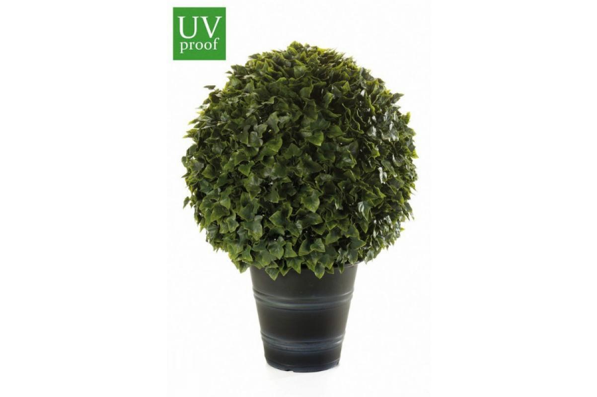 Хедера шар искусственный зеленый в кашпо 67 см