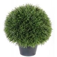 Туя шар искусственная в кашпо зеленая