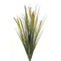 Куст травы искусственный с зелеными колосками 65 см