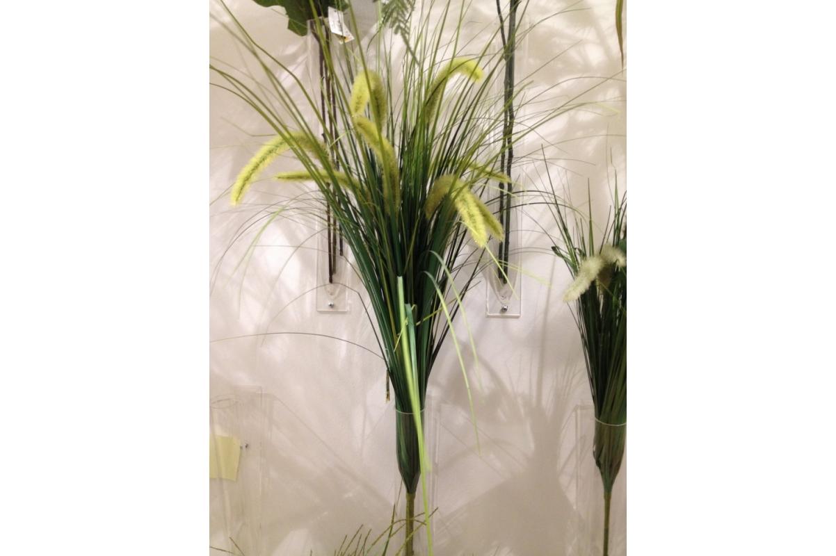 Куст травы искусственный с зелеными колосками 65 см - Фото 2