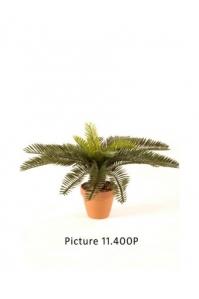 Пальма цикас искусственная зеленая 28 см (без кашпо)