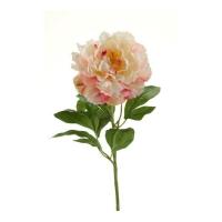 Пион искусственный кремово-розовый 65 см