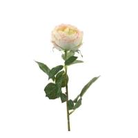 Роза Шанталь искусственная кремово-розовая 70 см