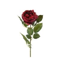 Роза Шанталь искусственная бордовая 70 см