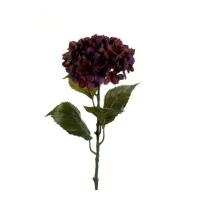 Гортензия искусственная фиолетовая 80 см
