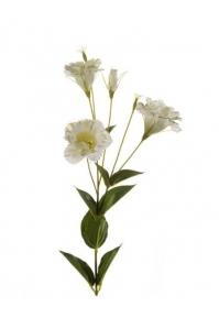 Эустома искусственная бело-зеленая 85 см