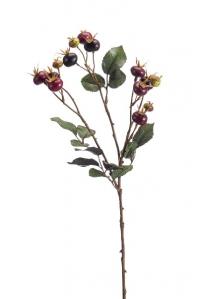 Ветка Шиповника искусственная коричневая 108 см