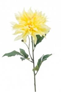 Георгин искусственный желтый 60 см