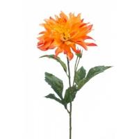 Георгин искусственный оранжево-желтый 60 см