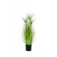 Трава Осока с циперусом Хаспан искусственная зеленая 75 см
