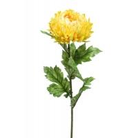 Хризантема МОМ спрей искусственная желтая 75 см