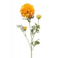 Георгин искусственный желто-оранжевый 68 см