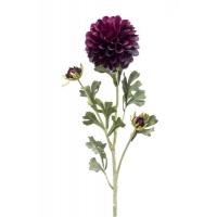 Георгин искусственный розовато-лиловый 68 см