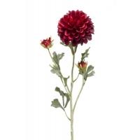 Георгин искусственный темно-красный 68 см