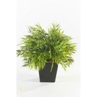 Куст травы бамбук искусственный в кашпо 30 см
