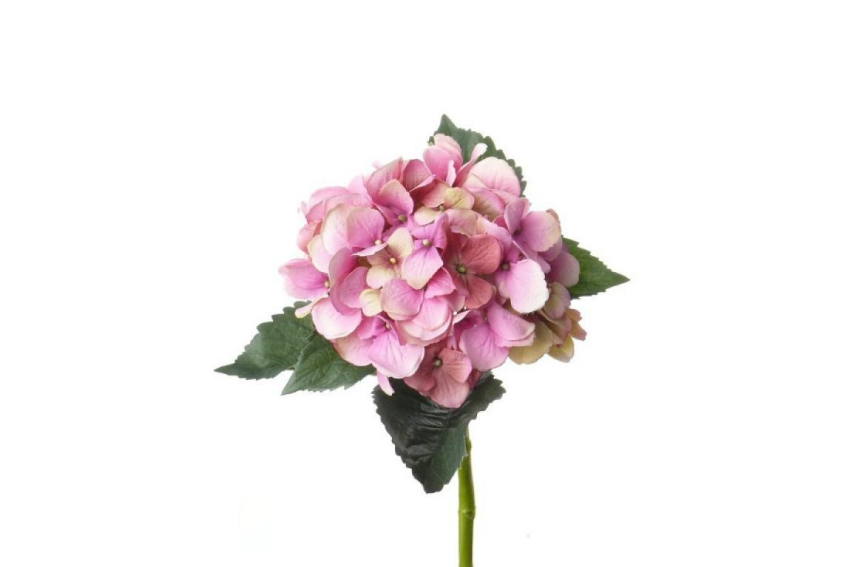 Гортензия искусственная розовая 48 см
