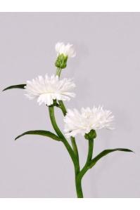 Василек искусственный белый 35 см
