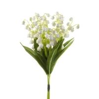 Букет Ландышей искусственный белый 15 см