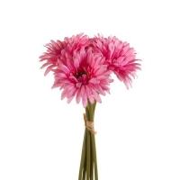 Букет Гербер искусственный розовый 5 шт 27 см