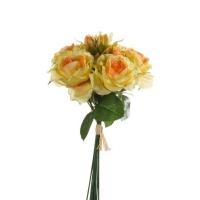Букет Роз искусственный желтый 30 см
