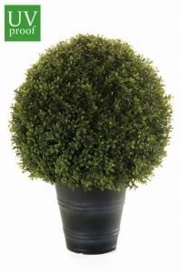 Самшит шар в кашпо искусственный зеленый 68 см