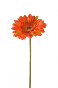 Гербера искусственная оранжевая 60 см